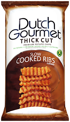 Old Dutch Gourmet Slow Cooked Ribs Thick Cut Premium Potato Chips