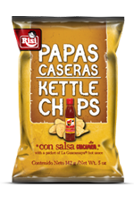 Classic Foods Papas Casera Kettle Chips Con Salsa
