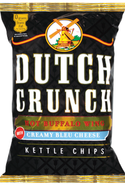 Old Dutch Hot Buffalo Wing & Creamy Bleu Cheese Kettle Cooked Potato Chips