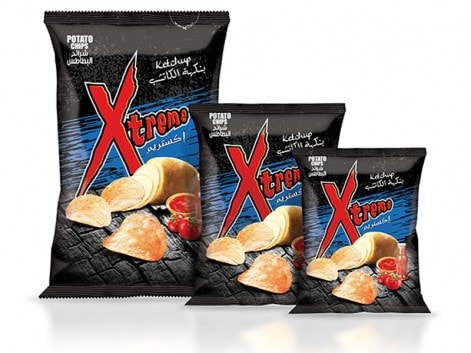 Notions Group XL Xtreme Ketchup Potato Chips Salted