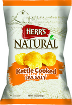 Herr's Natural Sea Salt Kettle Cooked Potato Chips