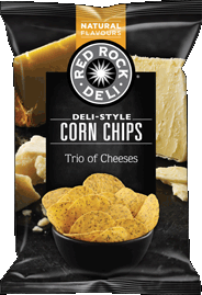 Red Rock Deli Corn Chips Trio of Cheeses