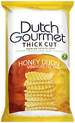Old Dutch Gourmet Honey Dijon Vinaigrette Thick Cut Premium Potato Chips