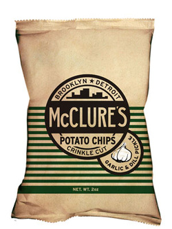McClure's Pickles Garlic Dill Pickle Crinkle Cut Potato Chips