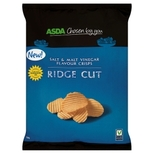 Asda Ridge Cut Salt & Malt Vinegar Crisps