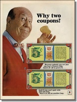 Lay's Bert Lahr advertising poaster from magazine