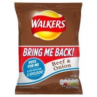 Walkers Beef & Onion Crisps Review