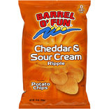 Barrel 'O Fun Cheddar & Sour Cream Ripple Potato Chips