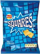 Walkers Squares Salt & Vinegar Flavour Crisps Review