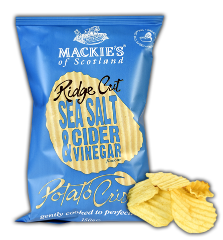 Mackie's of Scotland Ridge Cut Sea Salt & Cider Vinegar Crisps Review