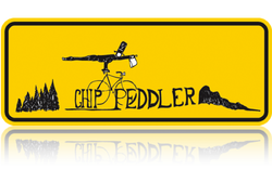 Chip Peddler Logo Mascot Cyclist