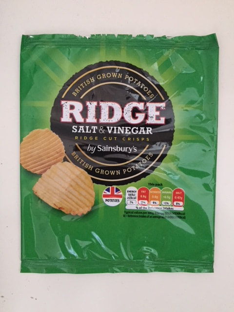 Sainsbury's Ridge Salt & Vinegar Crisps Review