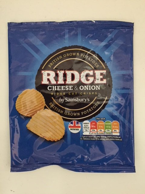 Sainsbury's Ridge Cheese & Onion Crisps Review