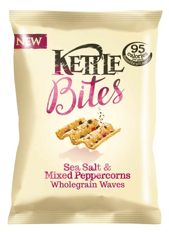 Kettle Bites Sea Salt & Mixed Peppercorns Wholegrain Waves Review