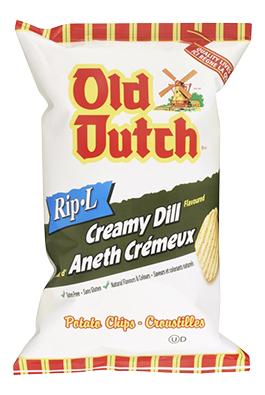 Old Dutch Creamy Dill Rip-L Potato Chips