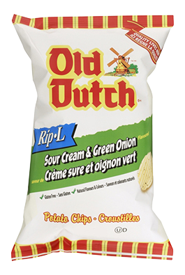 Old Dutch Sour Cream & Green Onion Rip-L Potato Chips