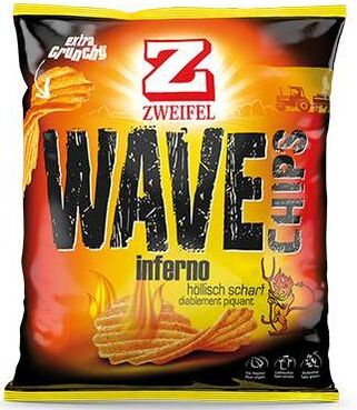 Zweifel Potato Chips Wave Inferno