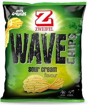 Zweifel Potato Chips Wave Sour Cream