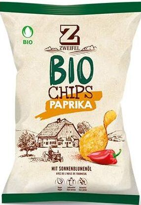 Zweifel Potato Chips Bio Paprika