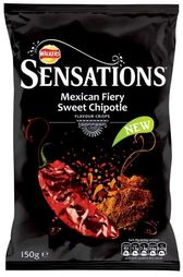 Walkers Sensations Mexican Fiery Sweet Chipotle