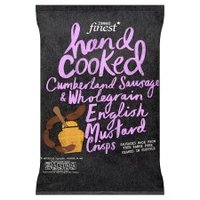 Tesco Finest Handcooked Cumberland Sausage & Wholegrain English Mustard Crisps