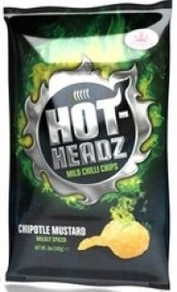 Hot Headz Chipotle Mustard Potato Chips