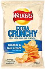 Walkers Extra Crunchy Cheddar & Sour Cream Crisps Review