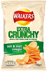 Walkers Extra Crunchy Salt & Malt Vinegar Crisps Review