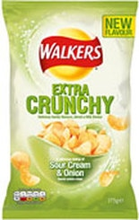 Walkers Extra Crunchy Sour Cream & Onion Crisps Review