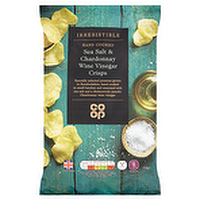 Co-Op Hand Cooked Sea Salt & Chardonnay Wine Vinegar Crisps Review