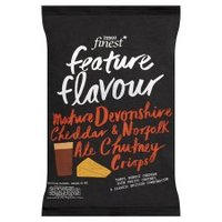 Tesco Finest Handcooked Mature Devonshire Cheddar & Norfolk Ale Chutney Crisps Review