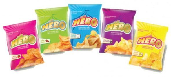 Notions Group Hero Crisps Sour Cream & Onion Potato Snacks