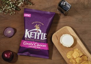 Kettle launch Goats' Cheese & Balsamic Onion flavour