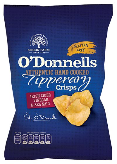 O'Donnells of Tipperary Hand Cooked Irish Cider Vinegar & Sea Salt Crisps Review