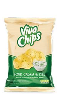 Viva Chips Sour Cream Dill